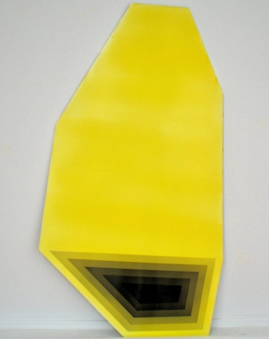 Yellow and Black  Acrylic on panel  36x24 inches  2014