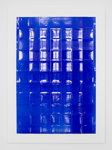 Blue  Acrylic on powdered stone paper  32x22 inches  2013