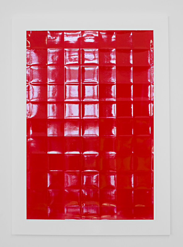 Red  Acrylic on powdered stone paper  32x22 inches  2013