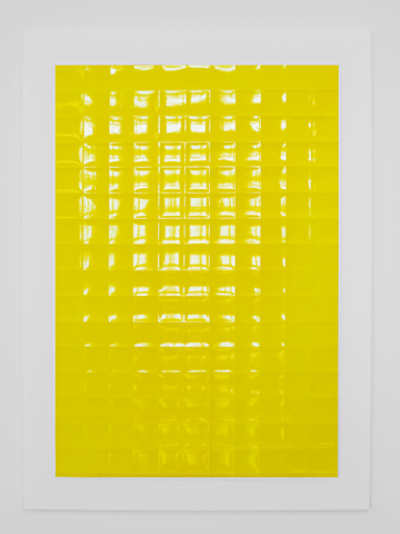 Yellow  Acrylic on powdered stone paper  32x22 inches  2013