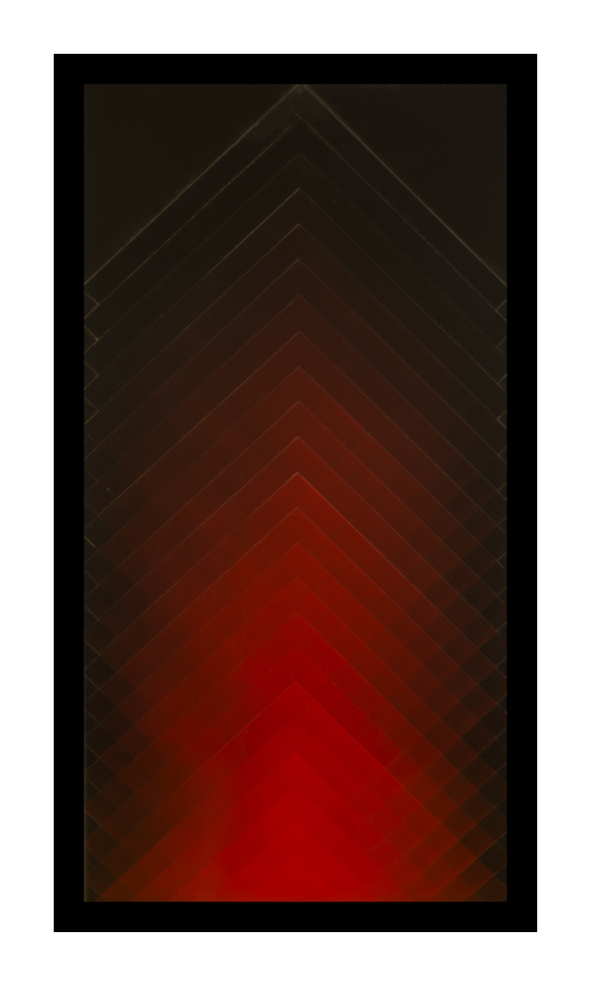 Red on Black  Acrylic on panel  36x24 inches  2014