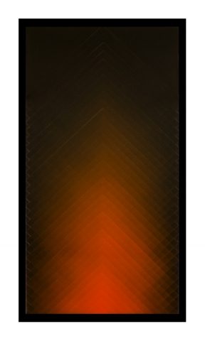 Orange on Black  Acrylic on panel 36x24 inches  2014