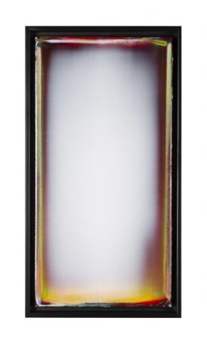 Colour in a Polar Vortex 2 Acrylic on canvas 10x20x2 inches 2020